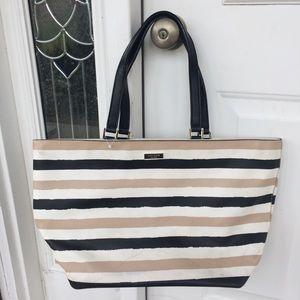 Kate Spade Striped Polyvinyl Tote Bag
